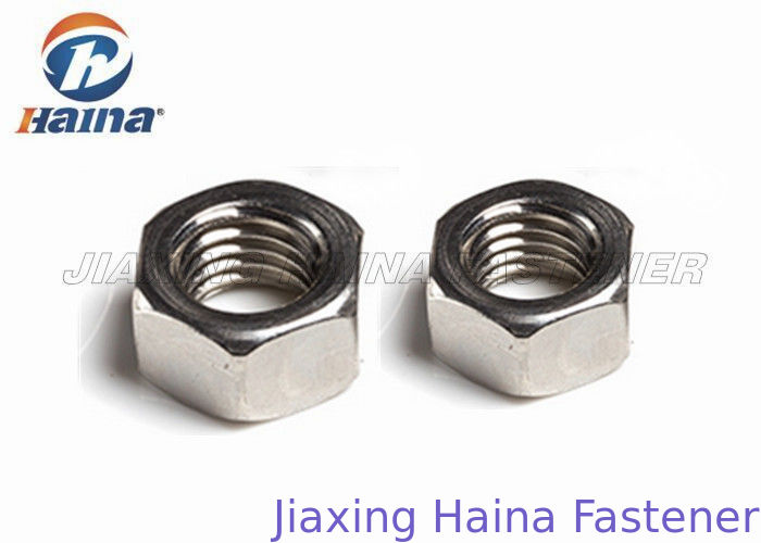 Stainless Steel 316  DIN 934 ANSI 18. 2. 2 Finished Hex Head Nuts For Fastening