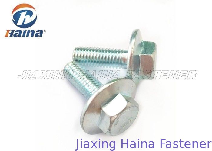 Carbon Steel Hex Head Flange Bolt Customized Left Thread / Right Thread M8 X 25
